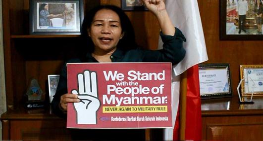 Dukung Perjuangan Rakyat Myanmar, KSBSI Tolak Kudeta Militer