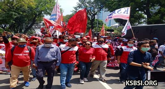 Hari Ini Massa Buruh KSBSI Turun ke Jalan, Menolak UU Cipta Kerja